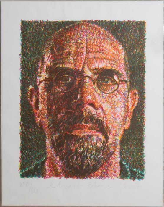 Chuck Close-Self Portrait (Scribble / Lincoln Center-2007
