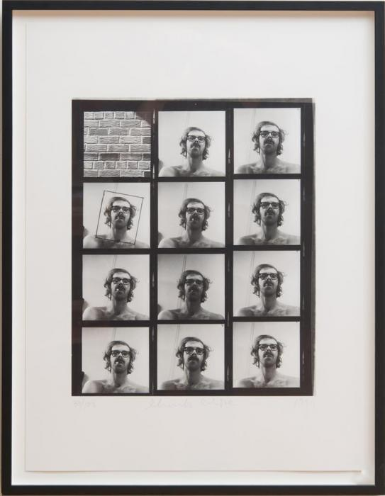 Chuck Close-Untitled (from A.R.T. Press Portfolio) / Self Portrait Contact Sheet-1999