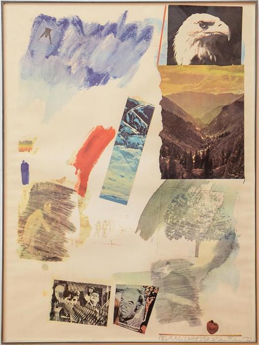 Robert Rauschenberg-Robert Rauschenberg - Untitled (Mcgovern)-1972