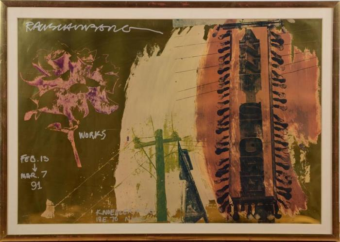 Robert Rauschenberg-Robert Rauschenberg - Exhibition Poster for Knoedler & Co.-1991
