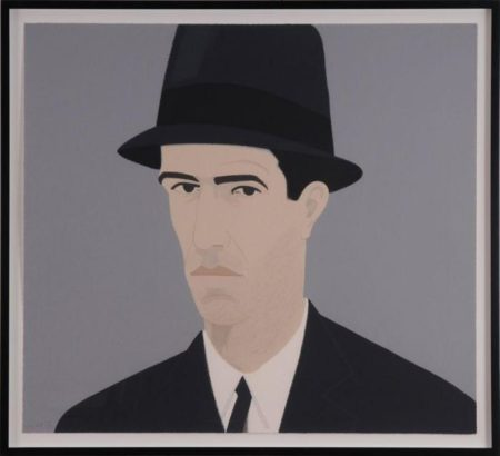 Alex Katz-Passing / Man in Hat / Self-Portrait-1990
