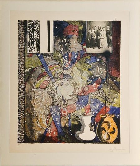 Jasper Johns-Untitled (American Center)-1994
