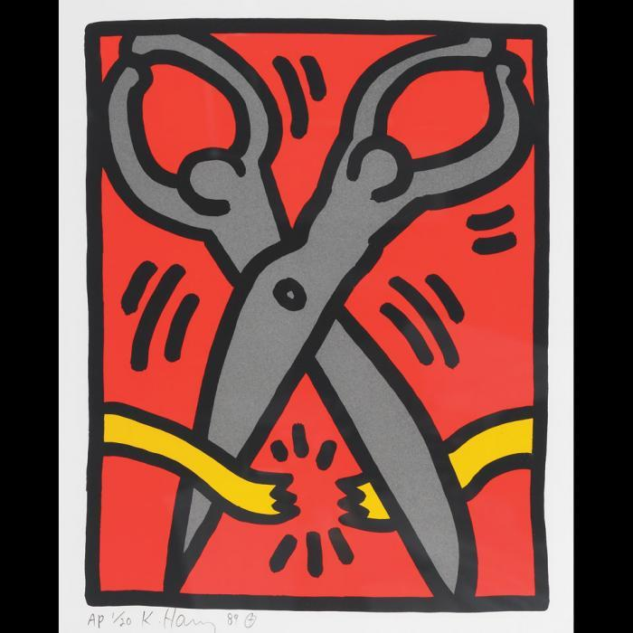 Keith Haring-Keith Haring - Scissors (From Pop Shop III)-1989