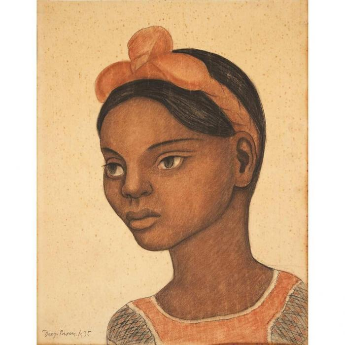 Diego Rivera-Young Girl-1935