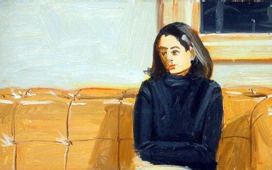 Alex Katz-Girl on Sofa-1974