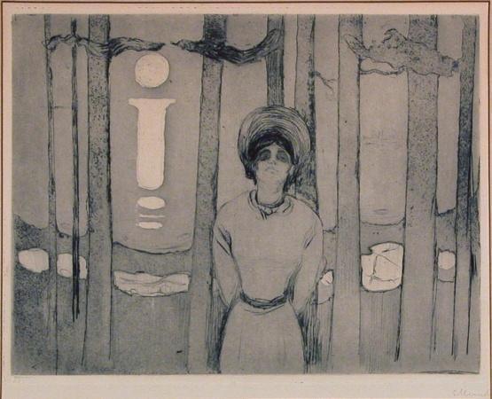 Edvard Munch-Sommernacht / Die Stimme / Sommernatt / Stemmen-1895