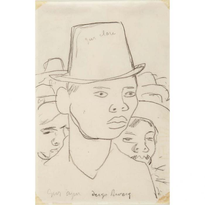 Diego Rivera-Group of Men-