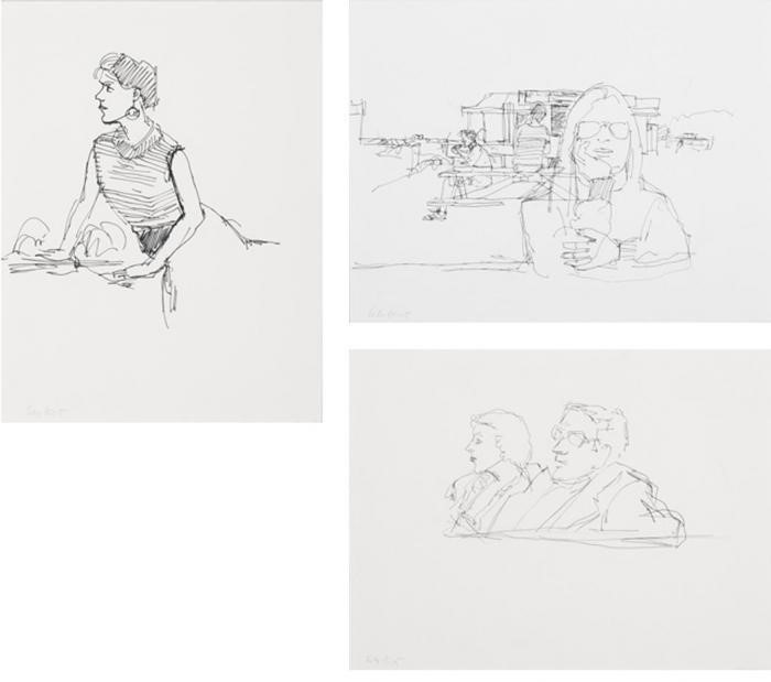 Alex Katz-Lincolnville Allegory; Martin and Nancy Meltzer; Darinka-1985
