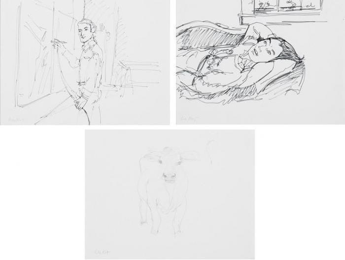 Alex Katz-Parott Jungle; Larry Rivers; Cows-1978