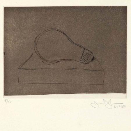 Jasper Johns-Light Bubm, (Large Lightbulb) (ULAE 58)-1969