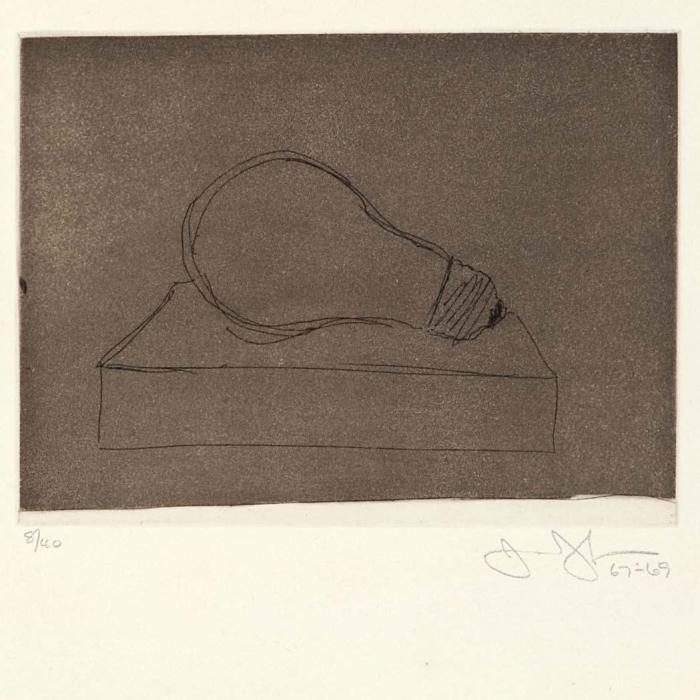 Jasper Johns-Light Bubm, (Large Lightbulb) (ULAE 58)-1969