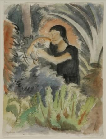 Diego Rivera-Woman with Flower-1928