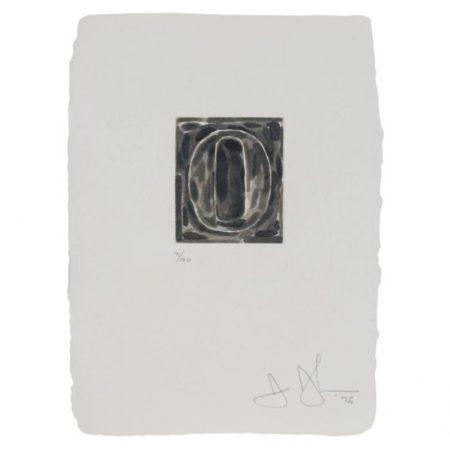 Jasper Johns-0 (U.L.A.E. 157)-1975