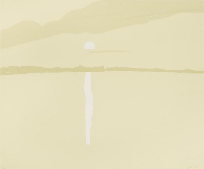 Alex Katz-Sunset, Lake Wesserunset IV (M. 61)-1972