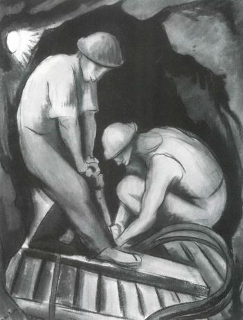 Diego Rivera-Miners in a Shaft-