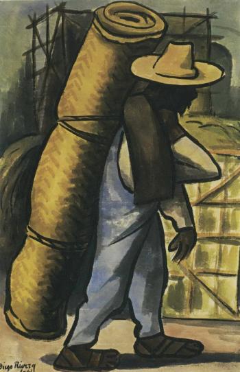 Diego Rivera-Man with Rug-1941