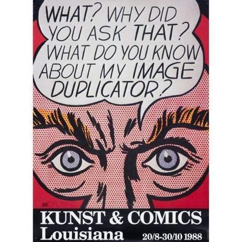 Roy Lichtenstein-Kunst & Comics poster-1988
