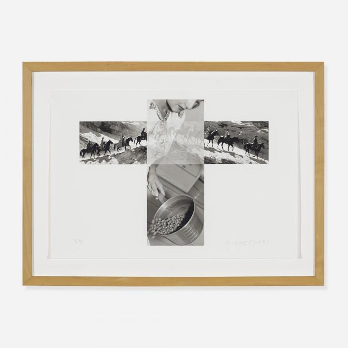 John Baldessari-The Intersection Series: Column of Cowboys/Woman Pouring Peas-2001