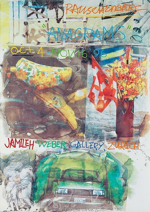 Robert Rauschenberg-Robert Rauschenberg - Ausstellungsplakat Rauschenberg: 'Anagrams' Oct. 4 - Nov. 16-1996