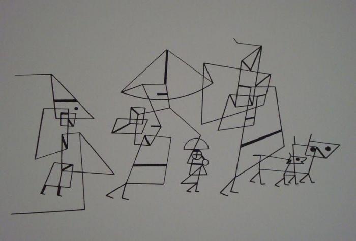 Paul Klee-Beride / Familienspaziergang-1930