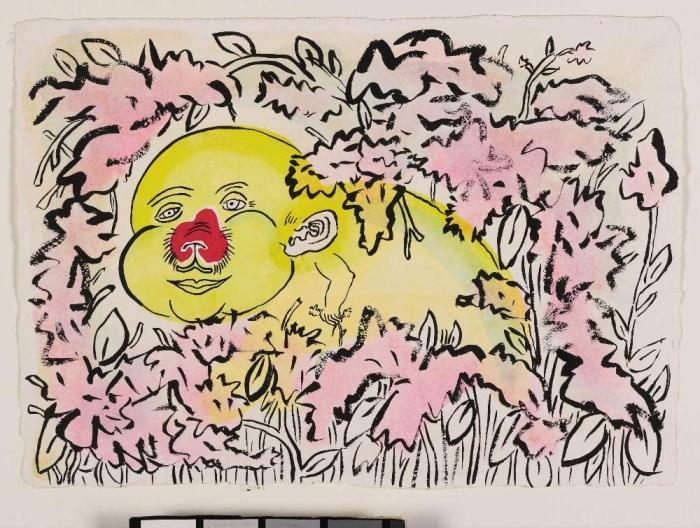 Keith Haring-Keith Haring - Roger in the Flowers-1987