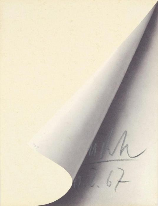 Gerhard Richter-Blattecke (Sheet corner)-1967