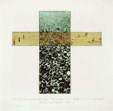 John Baldessari-Intersection Series, People scattered (with Crowd)-2002