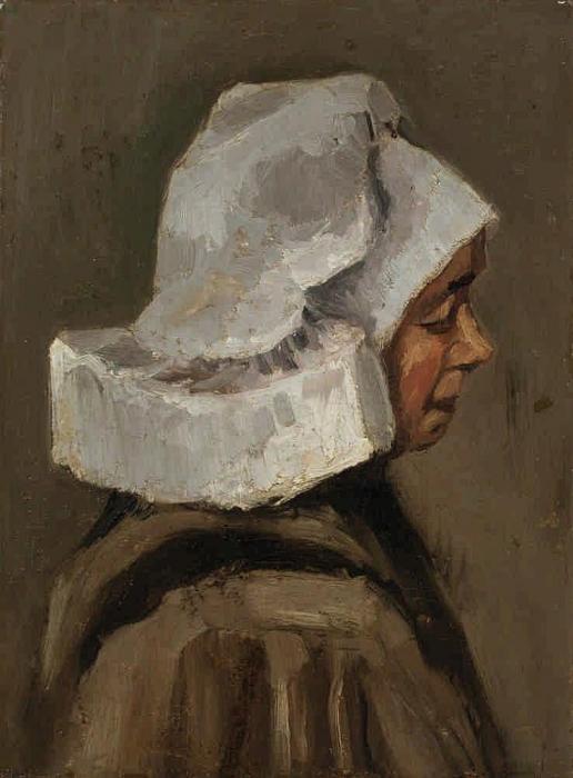 Vincent van Gogh-Head of a Peasant Woman: Right Profile (kopf Einer Bauerin: Profil Nach Rechts)-1885