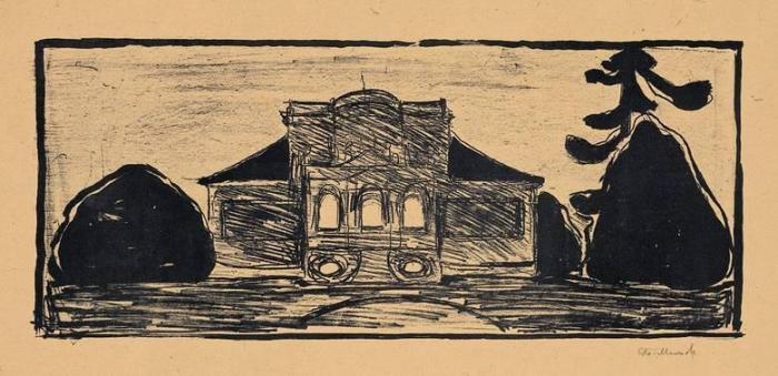 Edvard Munch-Die Gartenfront des Hauses Linde-1902