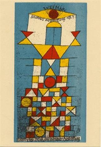 Paul Klee-Die Erhabene Seite (The Sublime Side Postcard For 'Bauhaus Exhibition Weimar')-1923