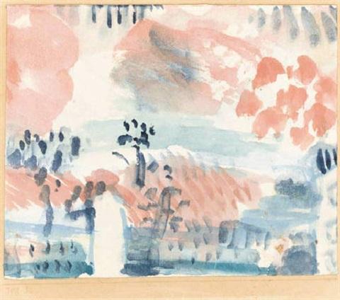 Paul Klee-Kleine Landschaft Mit Aussichtssignal (Small Landscape With Viewing Signal)-1918