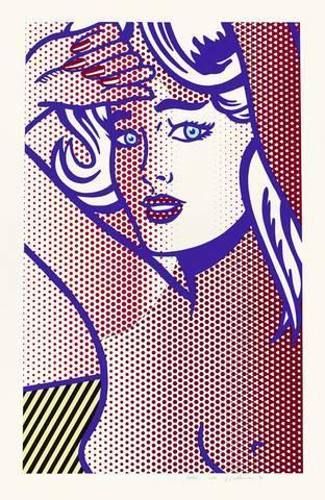Roy Lichtenstein-Nude With Blue Hair, State I-1994