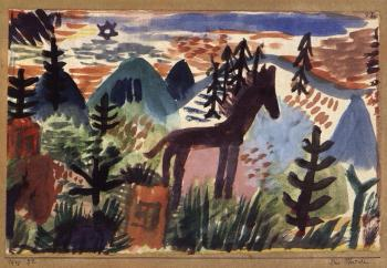 Paul Klee-Das Pferdche (The Horse)-1918