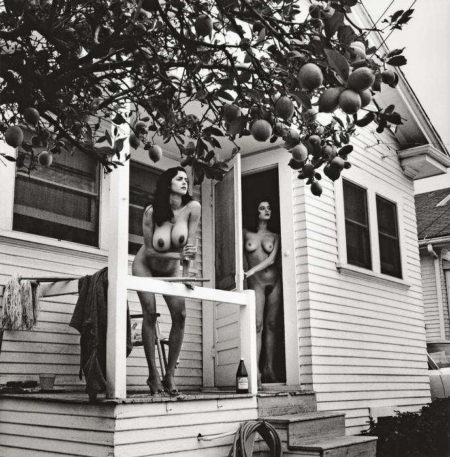 Helmut Newton-2 Playmates with Lemon Tree, Los Angeles-1986