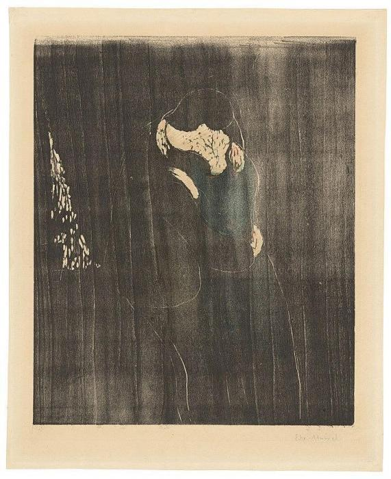 Edvard Munch-Der Kuss I (Woll 114; Schiefler 102)-1897