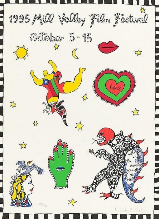 Niki de Saint Phalle-1995 Mill Valley Film Festival October 5-15-1995