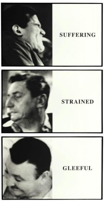 John Baldessari-Prima Facie: Suffering / Strained / Gleeful-2005
