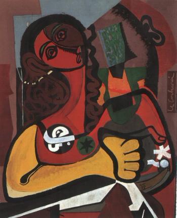 Le Corbusier-Femme aux cheveux boucles-1956