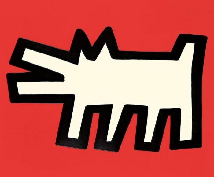 Keith Haring-Keith Haring - Aus: Icons (Barking Dog)-1990