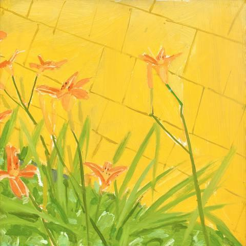 Alex Katz-Lillies-1973