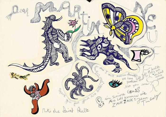 Niki de Saint Phalle-Dear Martin Neuffer-1976