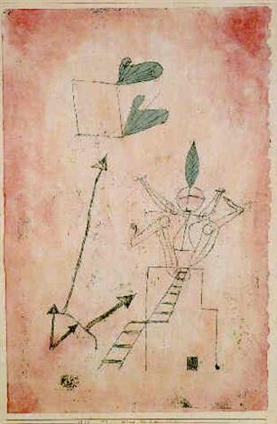 Paul Klee-Wind Von Links Unten (Wind From Below Left)-1923