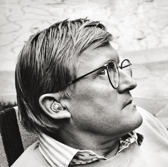 Helmut Newton-Portrait of David Hockney, Los Angeles-1988