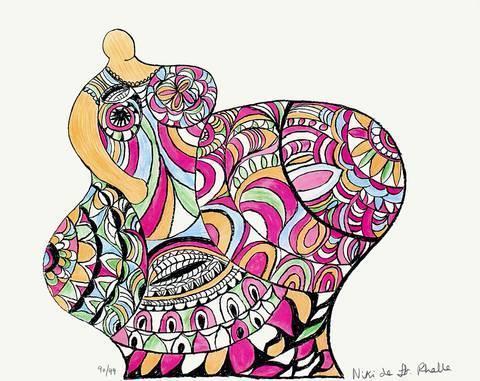 Niki de Saint Phalle-Nana - Pomme De Terre-1975