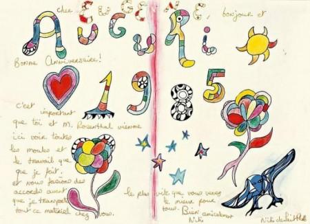 Niki de Saint Phalle-Auguri-1985