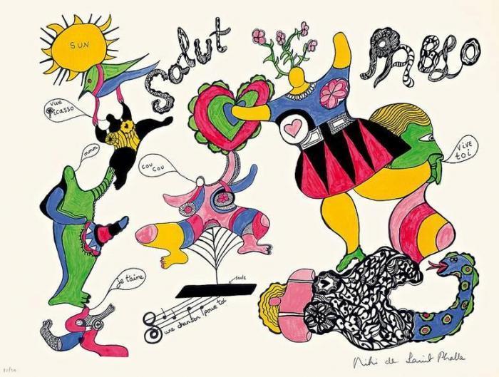 Niki de Saint Phalle-Hommage A Picasso-1973