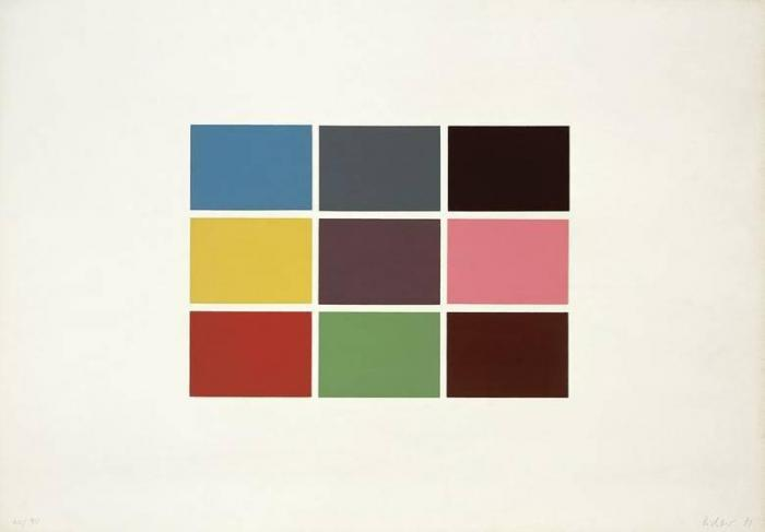 Gerhard Richter-9 Von 180 Farben (9 From 180 Colours)-1971