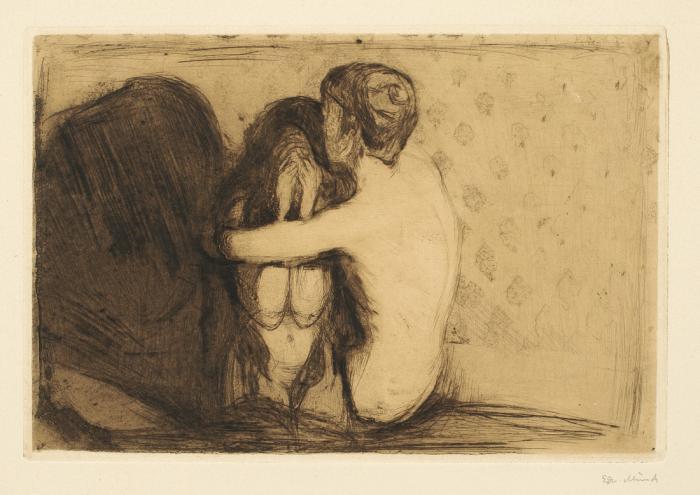 Edvard Munch-Trost / Consolation / Comfort (W. 6, Sch. 6)-1894