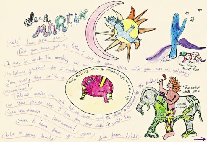 Niki de Saint Phalle-Letter to Martin Neuffer-1976