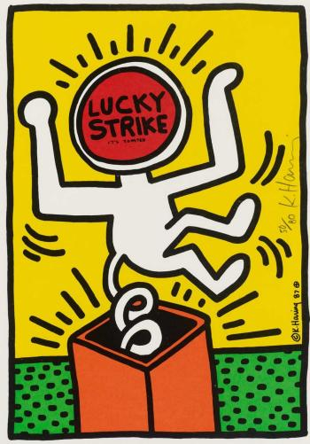 Keith Haring-Keith Haring - Lucky Strike (pl. 3)-1987